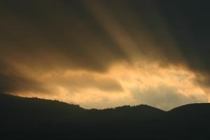 storm light through clouds