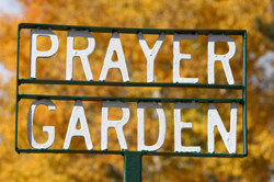 prayer garden sign